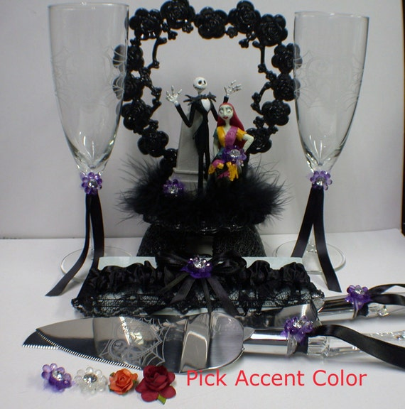 wedding cake toppers nightmare before christmas nightmare before wedding lot cake topper glasses 26553