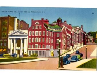 Rhode Island College of Design, Providence Rhode Island Vintage Unused Postcard