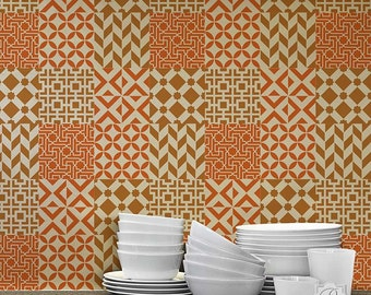 Moroccan Tile Stencil Set for DIY Craft Projects