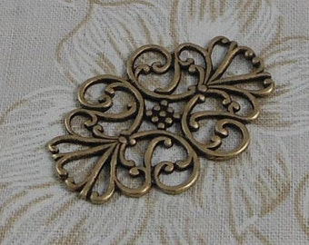 LuxeOrnaments Oxidized Brass Oval Connector 33x22mm (1 pc) G-07367-B