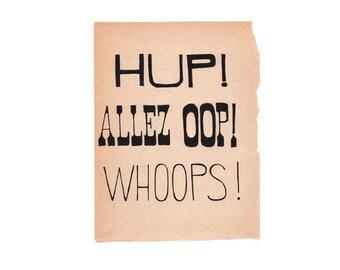 Hup - Art Print