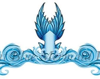 20 Various Sizes Mermaid Tail Temporary Tattoos Temp Tat
