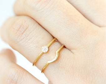 Double Lines Circle Ring /Adjustable ring, geometric circle ring