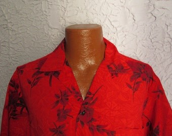 Vintage Men's Kamehameha Hawaiian Shirt  large