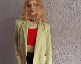 70s Vintage Calvin Klein Raw Silk Soft Blazer Jacket sm/med