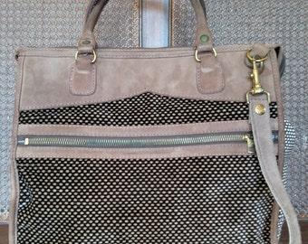 Vintage GENUINE LEATHER Duffle Bag