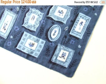 Jean Miller Vintage Handkerchief • Vintage Hanky •  Handkerchief •  Hanky • Hankies • Vintage Hankies