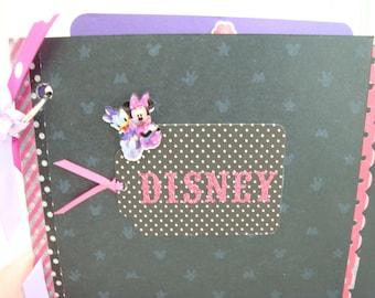 Disney Inspired Scrapbook, Minnie Mouse Scrapbook, Daisy Duck, Disneyland Scrapbook, Disney Autograph Book, Girls Disney