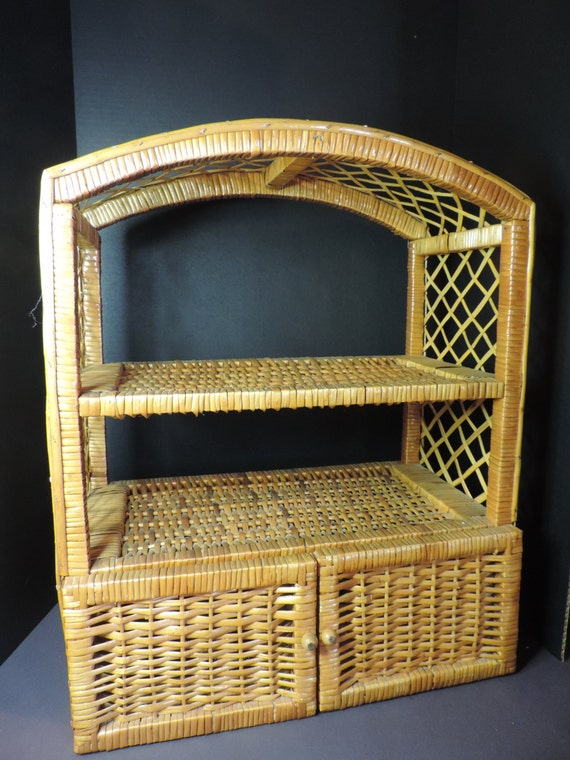 Ratan Shelf Storage Shelf Bathroom Shelf Ratan Bamboo Wicker