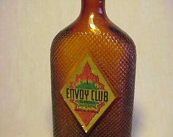 c1930s Envoy Club Blended Whisky By Continental Distilling Corporation Philadelphia, PA., Original Labeled Whiskey