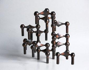Rare Set of 11  Atomic Age Candle Holders -Nagel