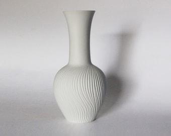 Modern White Porcelain Bisque Architectural Vase - Bavaria BPM 1970s