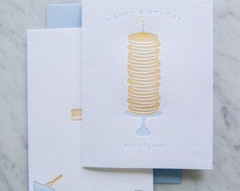 Birthday Pancake Wish Letterpress