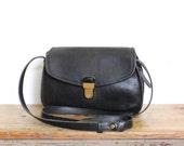 Vintage Coach Bag // Coach Crossbody Bag Black // 80s Rare Leather Handbag Purse
