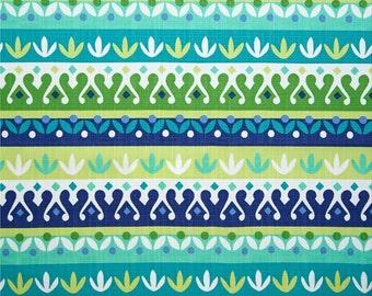 Outdoor Pillow Cover - Lumbar, 16 x 16, 18 x 18, 20 x 20, 22 x 22 - CTG Stripe Blue Green