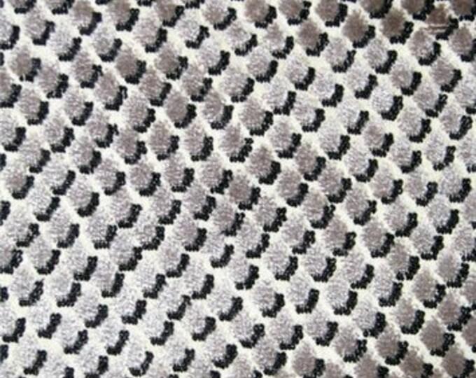 Designer Pillow Cover - Lumbar, 16 x 16, 18 x 18, 20 x 20, 22 x 22, 24 x 24 -KS Mazzy Dot Velvet Storm Gray