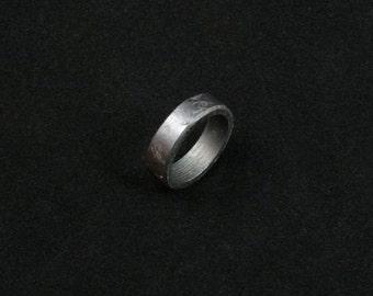 10 1/2 -- Hammered iron ring -- i11763