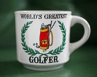 World's Greatest Golfer Mug - Vintage Golf Mug