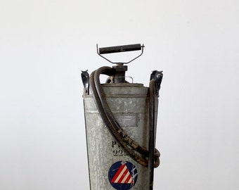 SALE Antique Hand Fire Extinguisher, The Fire Fighter