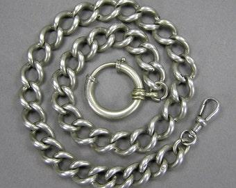 Antique Silver Chain, use as Bracelet, Watch Chain, Heavy Duty, Unisex, Man or Men, Statement