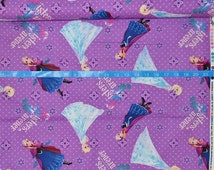 Springs Creative Frozen Sisters Character Toss - Perfect for Frozen movie outfits - BTY Cotton Fabric - Choose your cut