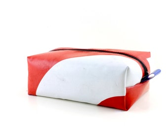 Truck tarpaulin washbag, Unique toiletry bag, Travel Kit, Make Up Bag, Dopp Kit, Recycled dopp kit, Fully lined and unique (6.06)