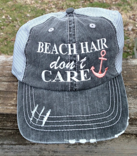 Beach Hair Don't Care with Anchor embroidered by lana5753 ...