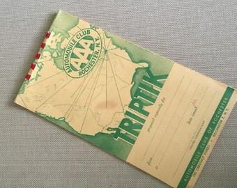 AAA Triple A Automobile Club Triptik 1951