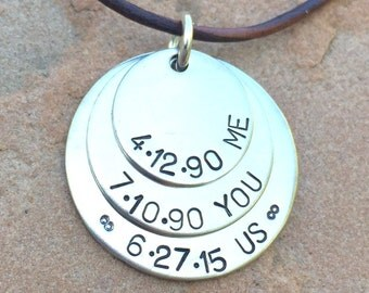Men's Necklace, Boyfriend Necklace,Husband Necklace, personalized for dad, father necklace, dad necklace,natashaaloha