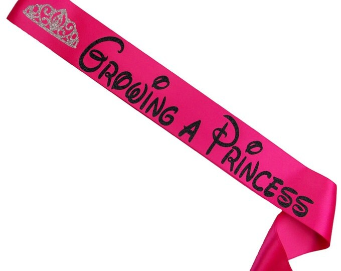 Growing A Princess Baby Shower Sash - Mommy To Be Sash -Baby Shower Gift - Baby Shower Favor - Princess Themed - Baby Girl