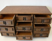Large Vintage Wooden Jewelry Box for Storage and Organization