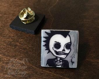 Punk Scrabble Pin by LF