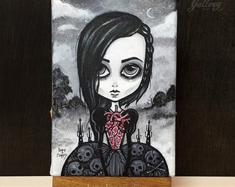 My Coffin Heart 5x7 Art print by Lupe Flores