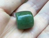 XL Hand Carved Apple Green Wyoming Jade Bead