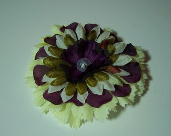 Fabric Flower Accessory, Warm Winter Colors Hair Clip or Lapel Pin, Flower Pin or Hair Clip, Stocking Stuffer