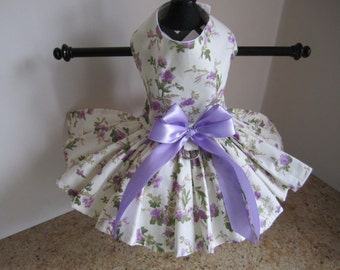 Dog Dress Lavender Flowers