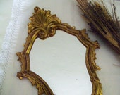 Vintage Mirror Made In Italy Gold Gilt Frame