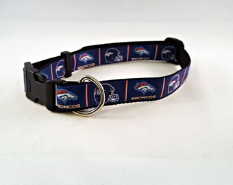 Dog Collar - Adjustable - Denver Broncos
