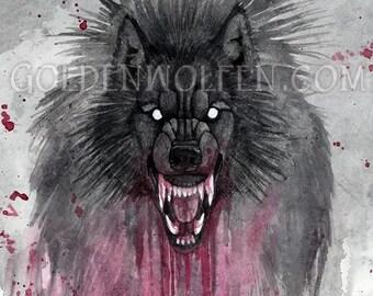 Werewolf Blood Rage Print