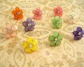 Resin Flower Thumbtack, Resin Flower Push Pin, Flower Notice Board Pins, Flower Decoration