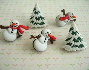Green Red Whit Snowmen Christmas Thumbtack, Christmas Sonw Men Push Pin, Xmas Notice Board Pins, Christmas party Supplies