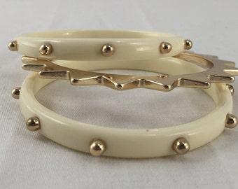 Acrylic and Metal Rockstar Bracelet