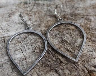 Boucles d'oreilles argent goutte d'eau / Silver geometric earrings (BO-912)