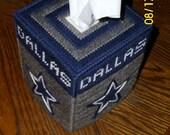 Dallas Cowboys Tissue Box Cover