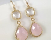 RESERVED For J: 12 pairs Pink Opal Earrings