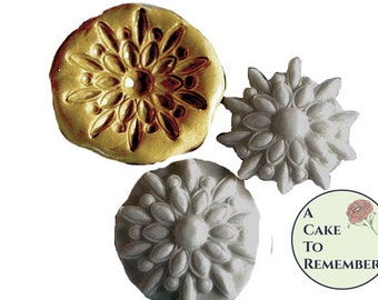 Silicone jewelry mold for fondant medallions- cake or cupcake decorating, chocolate mold, hard candy, polymer clay, silicone mould M1008
