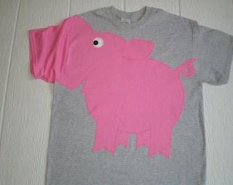 PIG SNOUT sleeve t-shirt, pig shirt, pig t-shirt, Unisex adult sizes, pig tee, fun shirt, short sleeve tee