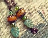 Earrings,  Pumpkin, Autumn, Leaf, Halloween, Thanks Giving, Orange, Green