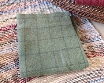 Soft Meadow Green, Hand Dyed Fat 1/4, Wool Fabric for Rug Hooking & Applique, W123