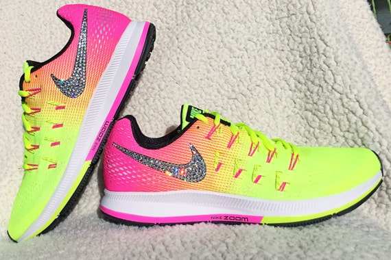 huge discount 6d827 d29a3 Crystal Nike Air Zoom Pegasus 33 with Swarovski by SparkleNvie 80%OFF